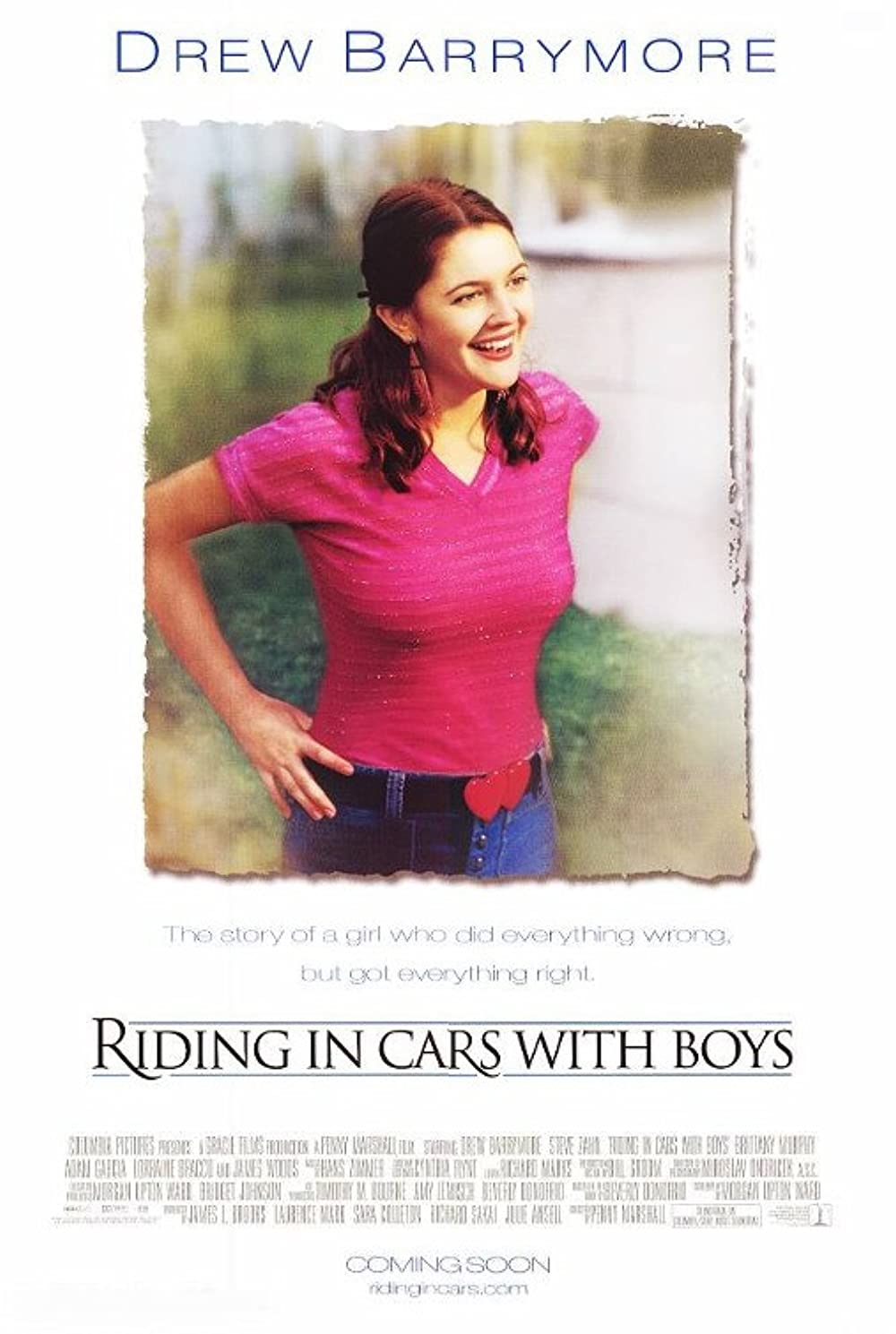 Riding In Cars With Boys Poster